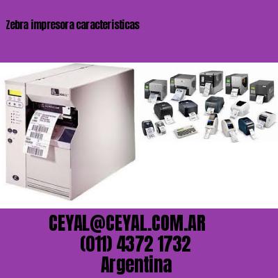 Zebra impresora caracteristicas