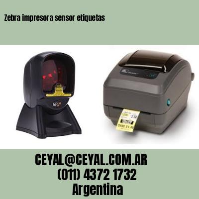 Zebra impresora sensor etiquetas