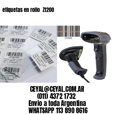etiquetas en rollo  Zt200