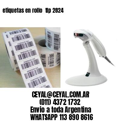 etiquetas en rollo  tlp 2824