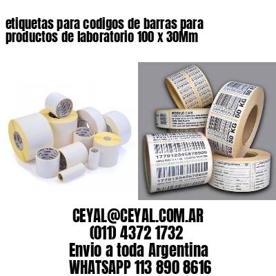 etiquetas para codigos de barras para productos de laboratorio 100 x 30Mm