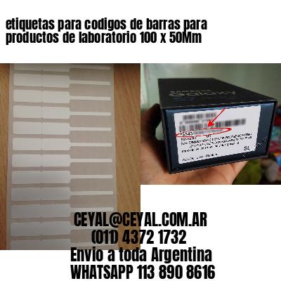 etiquetas para codigos de barras para productos de laboratorio 100 x 50Mm