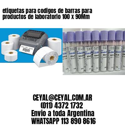 etiquetas para codigos de barras para productos de laboratorio 100 x 90Mm