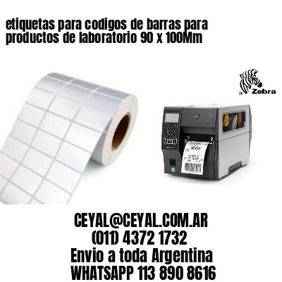 etiquetas para codigos de barras para productos de laboratorio 90 x 100Mm