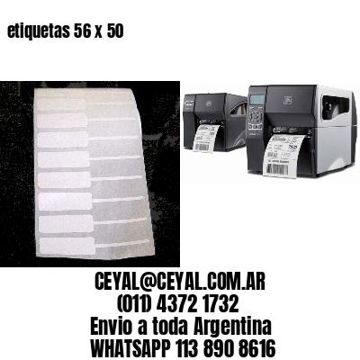 etiquetas 56 x 50