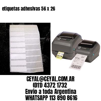 etiquetas adhesivas 56 x 26