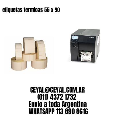 etiquetas termicas 55 x 90