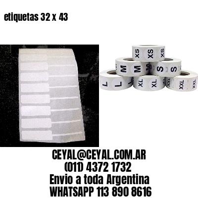 etiquetas 32 x 43