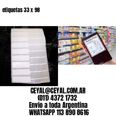 etiquetas 33 x 98