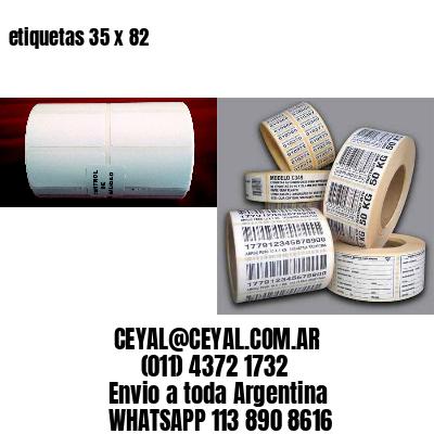 etiquetas 35 x 82