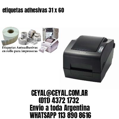 etiquetas adhesivas 31 x 60