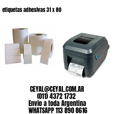 etiquetas adhesivas 31 x 80