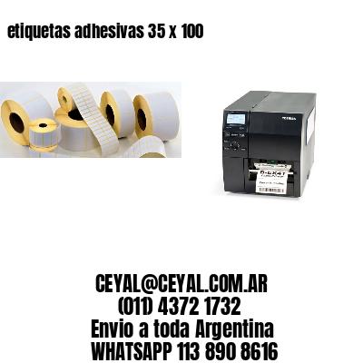 etiquetas adhesivas 35 x 100