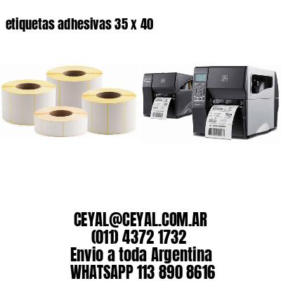 etiquetas adhesivas 35 x 40