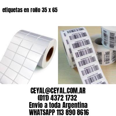 etiquetas en rollo 35 x 65