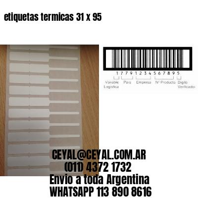 etiquetas termicas 31 x 95