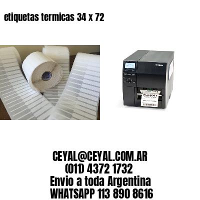 etiquetas termicas 34 x 72